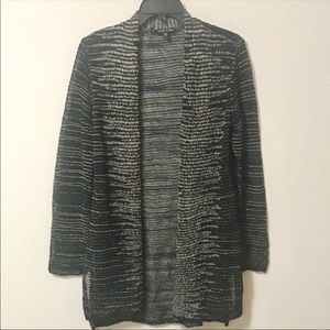 Eileen Fisher Loose Knit Open Front Cardigan